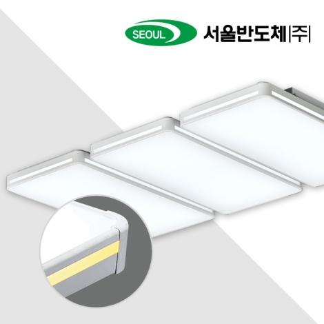 LED 프리미엄 거실6등 150W (국산/KC인증) (1130*700*90) 화이트/옐로우 6500K